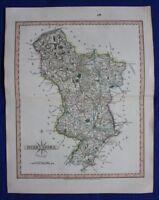 Original antique map DERBYSHIRE, John Cary, 1809