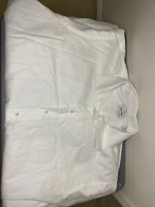 Calvin Klein pre owned Men's Long Sleeve Button Up Shirt Size Tall 19. White