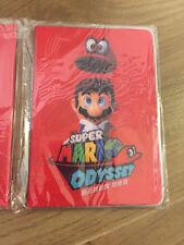 Official Nintendo Switch Super Mario Odyssey Accessory passport case + Note book