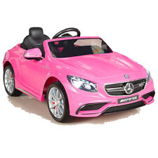 Mercedes-Benz AMG S63 Kinderauto Kinderfahrzeug Kinder Elektroauto 2xMT 12V Rosa