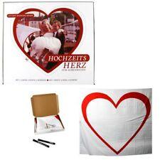 Hochzeit Herz-Set zum Ausschneiden Hochzeitsbrauch Hochzeitsspiel Laken