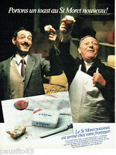 PUBLICITE ADVERTISING 016  1982  Le fromage St Moret