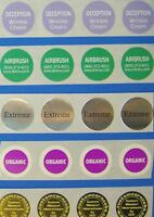 """Printed Round Labels, 250 Custom Business Stickers  3/4"""" Diameter Circle 1-Color"""