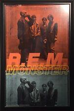 R.E.M. MONSTER VINTAGE ROCK POSTER  BY KEITH CARTER FRAMED
