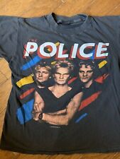 VTG The Police Sz MED Shirt 1983 Synchronicity Tour Authentic Rock
