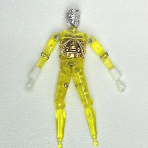 """Vintge Mego Micronauts Yellow Time Traveller Action Figure """"Missing Feet"""" 1976"""