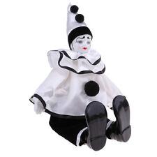 Handmade Clothing Clown Porcelain Doll Halloween Ornaments Gifts 38cm #4
