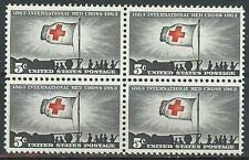 US 1963 Sc# 1239 set Red cross centenary block 4 MNH