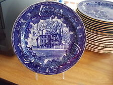 Wedgwood Historical Blue Collector Plate - Henry W Longfellow's Home-Portland Me