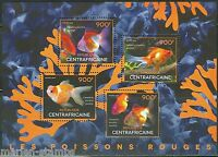 CENTRAL AFRICA 2014  RED FISH  SHEET MINT NH