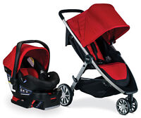 Britax B-Lively Stroller & B-Safe 35 Infant Car Seat Travel System Cardinal NEW