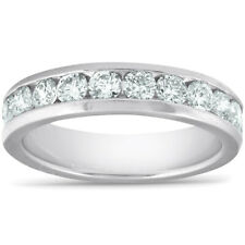 G/VS 1ct Diamante Anillo de boda de laboratorio crecido conjunto de canal de platino Eco Friendly