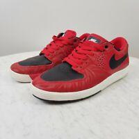 NIKE Mens Size US 8 Paul Rodriguez 7 Premium SB University Red / Black Shoes