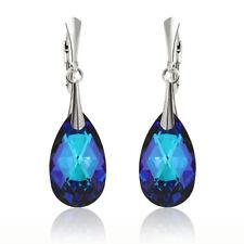 Sterling Silver Earrings Hooks made with 6106 22mm Teardrop Swarovski® Crystals