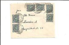 DR / BISCHHEIM (SACHSEN) 29.7.23, 6 Gitter-Stempel auf kleinem Brief m. MeF 209