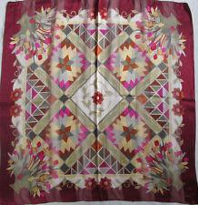 -Superbe Foulard VALENTINO soie mousseline  TBEG  vintage scarf  85 x 87 cm