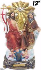 Statue of Holy Trinity Father Son Holy Spirit Angel Jesus Christ Figurine