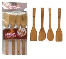 4 pièce bambou en bois cuisine ustensiles de set outils Spatule cuillère Turner