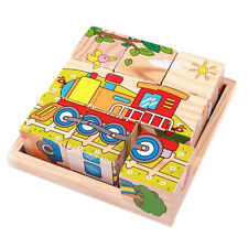 Puzzle en bois tridimensionnel dédié plateau en bois 9 puzzle à six faces HH