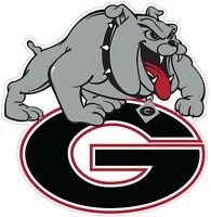 University of Georgia Bulldogs Color Die Cut Vinyl Decal Sticker choose size