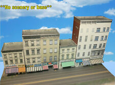 N Scale Buildings - Downtown apartments with shops  Cardstock kit set CN017