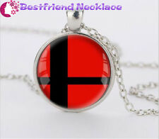 Super Smash Bros Ball red and Black silver necklace for women men Jewelry#T27