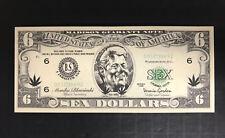 Lot of 25 ~ Slick Willie Bill Clinton Novelty Funny Money $6 Bills