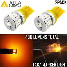 Alla Lighting 2x 6-LED Side Marker Blinker Signal/ License Plate Light 168,Amber