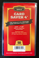 50 Card Saver 4 IV Semi Rigid Card Holders - New Sealed Pack - Priority Shipping