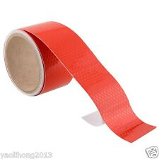 "2""X10' 3M Red Reflective Safety Warning Conspicuity Tape Film Stickers"