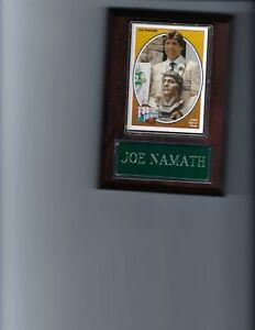 JOE NAMATH PLAQUE NEW YORK JETS NY FOOTBALL NFL   C2