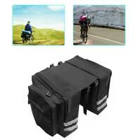 Double Panniers Bag Bike Bicycle Cycling Rear Seat Trunk Saddle Rack Bag X6V2