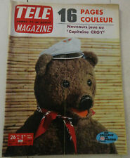 revue tele magazine n°418 DE 1963 nounours