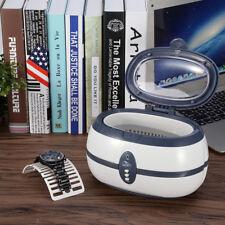 Ultrasonic Cleaner Machine Polishing Jewelry Dental Lens Watch Rings 600ml Tank