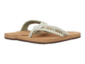 Men Sanuk Fraid SO Flip Flops Sandal 1117630 Natural 100% Authentic Brand New