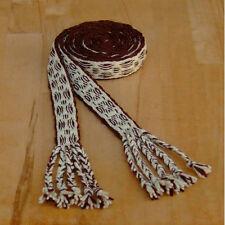 Gewandung Mittelalter Reenactment brettchengewebter Gürtel Wolle braun-natur 2m