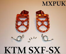 KTM250SX 2016 FOOTPEGS MXPUK WIDE FOOT PEGS KTM ORANGE 2015 KTM 250SX (563)