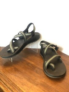 Chaco Z1/Z2 Men's Sz 12 Black And Green Open Toe Non Marking Adjustable Sandals