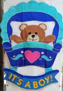It's a Boy Shaped Windsculpt Large Flag by NCE #20969, Baby Announcement