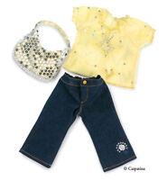 "Doll Clothes 18"" Pants, Blouse, Purse Carpatina Fits American Girl"