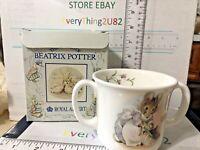 Royal Albert Beatrix Potter HUNCA MUNCA MOUSE 2 Handle Mug Children's Cup 1986