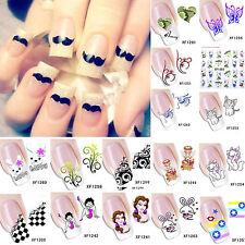 de niña Cartoon Animal Flor Adhesivo transfer agua manicura uñas pegatinas DIY