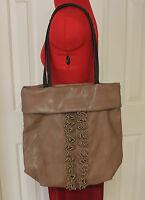 Vera Wang Simply Vera Brown Hobo Tote Large Handbag Bag Purse