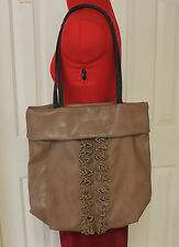 Vera Wang Simply Vera Brown Hobo Tote Large Handbag Bag Purse