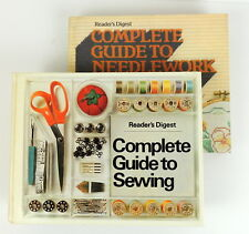 Vintage Readers Digest Guide to Sewing Books Needlework 1980 Hardcover Set of 2