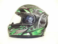 Viper RS-220 Demon ACU Full Face Motorbike Motorcycle Helmet Bike Green M L XL
