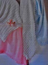 #44 Baby Shawls in 4 Beautiful Designs DK Vintage Knitting Pattern
