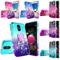 LG Phoenix 3/4/Rebel 2/3/4 LTE/Tribute Empire/Dynasty Liquid Glitter Case Cover