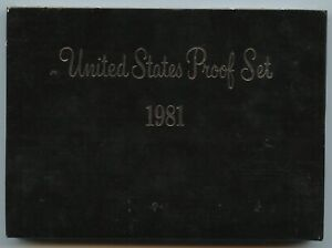 1981-S United States Proof Set Complete 6 Coin Set
