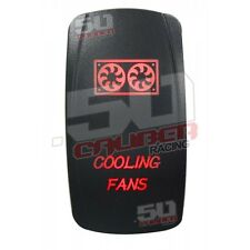 Red Fan Led Light Switch RV Trailer MotorHome Camper Toy Hauler Park Diesel Gas
